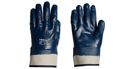 Solvotril nitrile gloves  jersey cotton  knitwrist