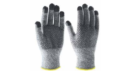Hppe fibreglass nitrile cut resistant gloves