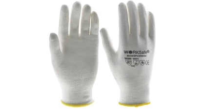 Hppe pu cut resistant gloves