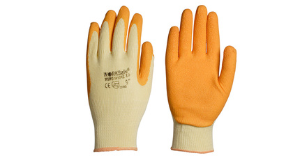 Rubber palm coated gloves
