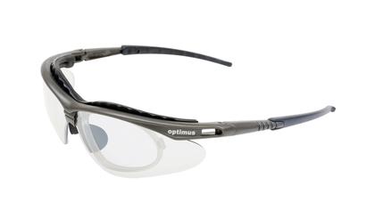 Optimus pearl grpahite frame clear lens
